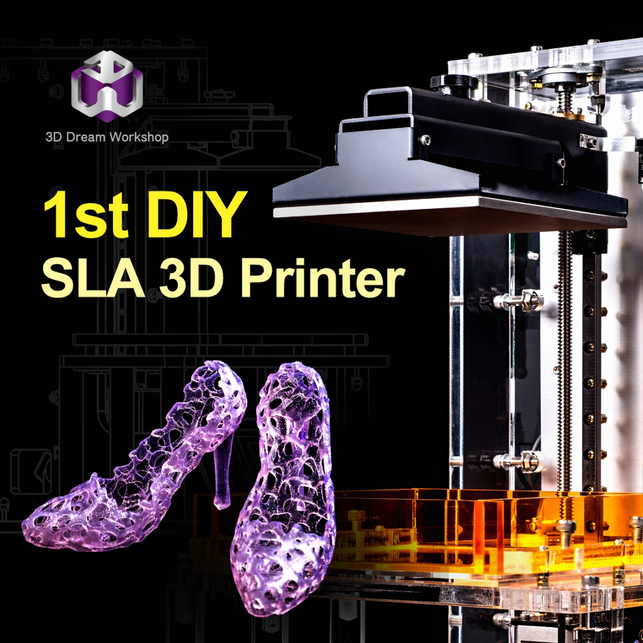 """The First One In The World, """"DO IT YOURSELF"""" Laser SLA 3d"""